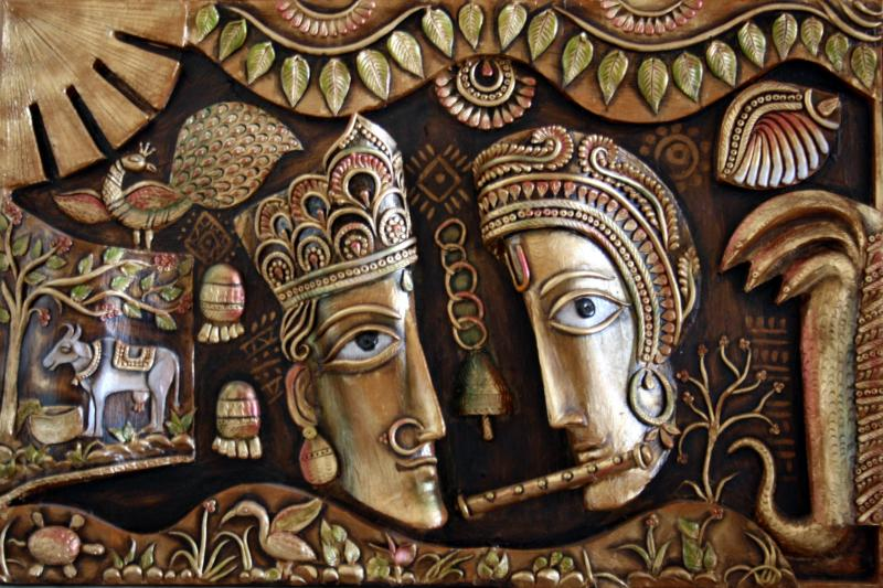 Saritas radha krishna murals paintings for 3d mural art in india