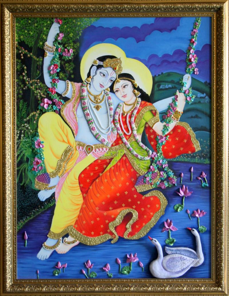 Radha Krishna Murals Paintings